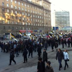Русский Марш в Новосибирске собрал несколько сот человек