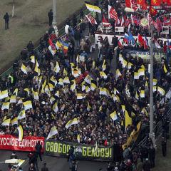 Русский Марш 2014 Москва Люблино