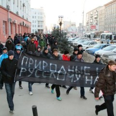 Отчет с Альтернативного Русского Марша 2014 в Новосибирске