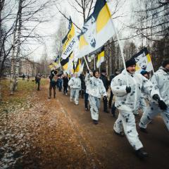 «Русский Марш» в Сыктывкаре (часть первая. Шествие)