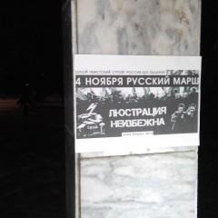 В Томске прошёл агит-рейд в поддержку Русского Марша