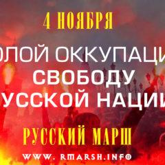 Русский Марш 2016. Долой оккупацию! Свободу русской нации! Агитационные материалы!