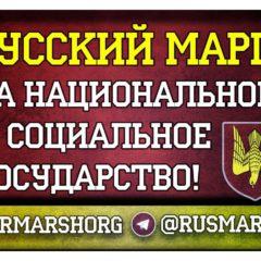 Русский Марш «За национальное и социальное государство»! Стикеры для агитрейдов!